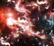 探险空间、星云和星 尘土、氢和等离子跨星块集岩  皇族释放例证