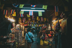探索夜市场在曼谷 图库摄影