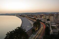 探索法国海滨在尼斯 免版税库存图片