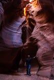 探索的槽孔峡谷 库存图片