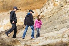 探索砂岩的孩子在和平的城市,俄勒冈 图库摄影