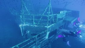 探索Zenobia海难的潜水者 影视素材