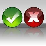 接受或取消图标 库存照片