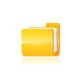 接口计算机文件夹传染媒介 免版税库存图片