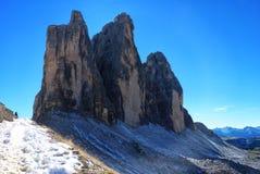 接合的峰顶在阿尔卑斯 免版税图库摄影