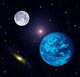 接地月亮星形 免版税库存图片