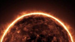 接地烧伤死亡行星,世界转动的熔岩地球的末端在loopable的宇宙的 库存例证