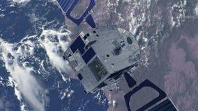 接地轨道的卫星 影视素材