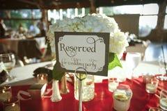 接收婚礼 免版税图库摄影