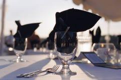 接收表婚礼 免版税库存图片