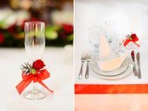接收集合表婚礼 库存图片