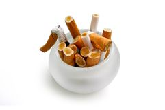 接界香烟 免版税库存照片