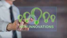 接触一个新的创新概念的人 库存图片