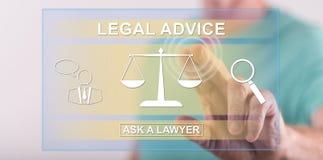 接触一个法律建议概念的人 免版税库存图片