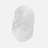 接触与阴影传染媒介例证的指纹id app 库存照片