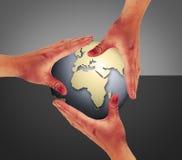 接触世界 免版税图库摄影