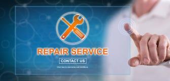 接触修理公司概念的人 免版税图库摄影