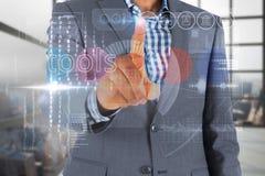 接触在接口的商人词工具 免版税库存图片