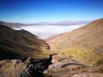 接触天空在阿根廷 免版税库存照片
