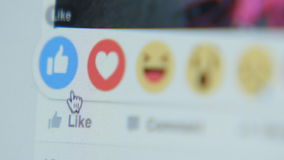 接触对象在Facebook -接近的象,边 影视素材
