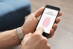 接触指纹ID扫描器  免版税库存照片