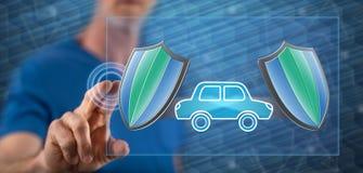 接触汽车保险概念的人 免版税库存照片