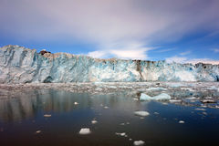 接近冰川的面孔在威廉王子湾 免版税库存图片
