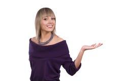 接近打手势妇女年轻人 免版税库存图片