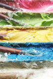 接近的五颜六色的蜜钱泰国  免版税库存图片