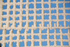 接近的冻结的网格视图 免版税图库摄影