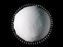 接近的地球冰雪球 免版税库存照片