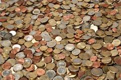 接近的堆货币照片 库存照片
