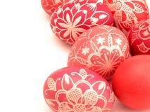 接近的复活节彩蛋 免版税库存照片