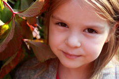 接近的女孩可爱的纵向 库存图片