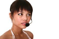 接近的客户现代服务 免版税库存图片