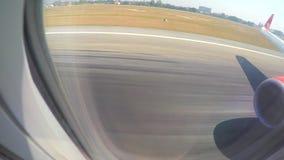 接近的客机登陆和着陆在 影视素材