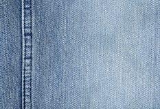 接近的布料牛仔布 免版税库存图片