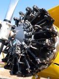 接近的引擎老飞机 图库摄影