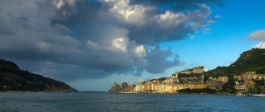 接近的急风, Portovenere,意大利 免版税库存图片
