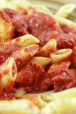 接近的意大利面食 图库摄影