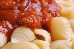接近的意大利面食 免版税库存图片
