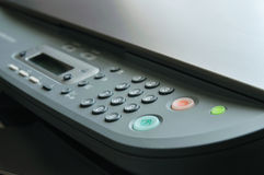 接近的打印机 免版税库存图片