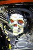 接近的摩托车头骨 库存照片