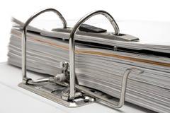 接近的文件夹开放视图 免版税库存照片