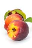 接近的新鲜的桃子成熟  免版税库存图片