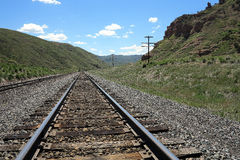 接近的日排行铁轨二 库存图片