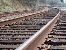 接近的日排行铁轨二 免版税库存照片