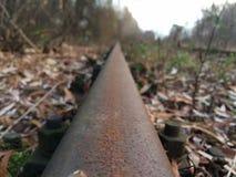 接近的日排行铁轨二 图库摄影