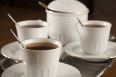 接近的服务茶 免版税库存图片