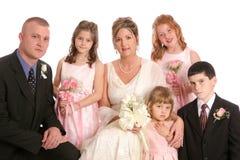 接近的水平的当事人婚姻 免版税库存图片